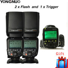 2X YONGNUO YN600EX-RT II 2,4G inalámbrico HSS maestro Flash para Canon cámara 600EX-RT + YN-E3-RT TTL disparador flash + difusor(China)