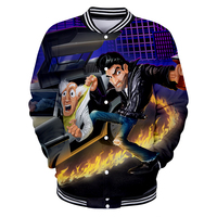 2019 Back to the Future 3D Print fashion Cosplay Costume Long Sleeve Casual New Style Baseball Jacket