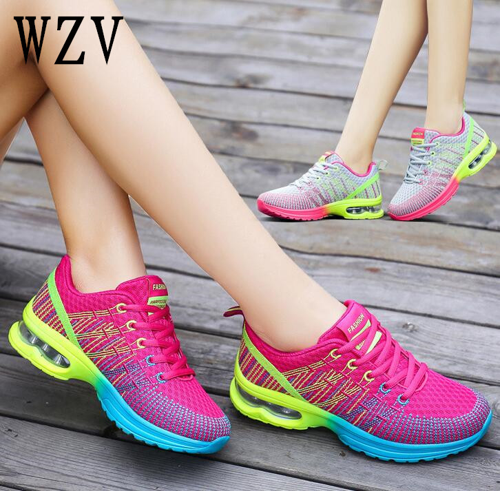 2018 Fashion Net surface breathable Women Shoes Spring Feminino Casual Shoes Outdoor Walking Shoes Women Flats  Ladies Shoes free shipping candy color women garden shoes breathable women beach shoes hsa21