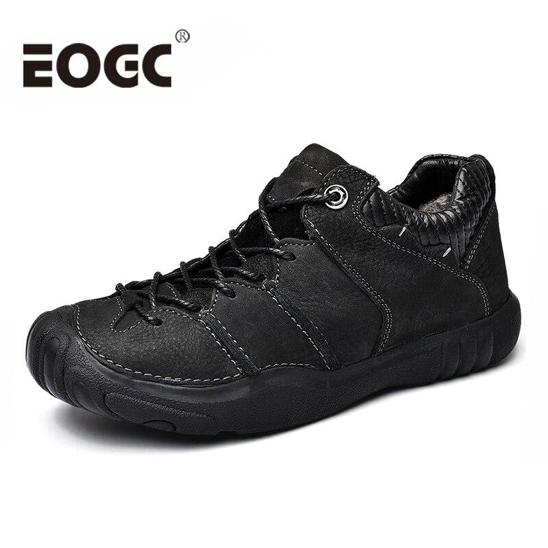 Размеры 38-46, обувь из натуральной коровьей кожи, Мужская модная повседневная обувь ручной работы, зимняя теплая прогулочная обувь для мужчи...