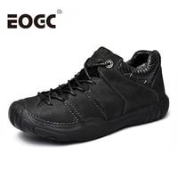 Size 38 46 Natural Cow Leather shoes men Fashion Handmade Men casual shoes Footwear Winter warm outdoor walking shoes men