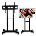 Moving Sit-Stand Desk Workstation TV Mount PS Stand Medical Equipment Trolley for 32-70 TV Max Support 50kg