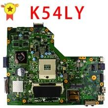 Бесплатная доставка Для Материнская плата Asus K54LY USB3.0 1 ГБ HM65 216-0809000 X54HR K54HR X54H x54hy ноутбука плата работа Идеальный