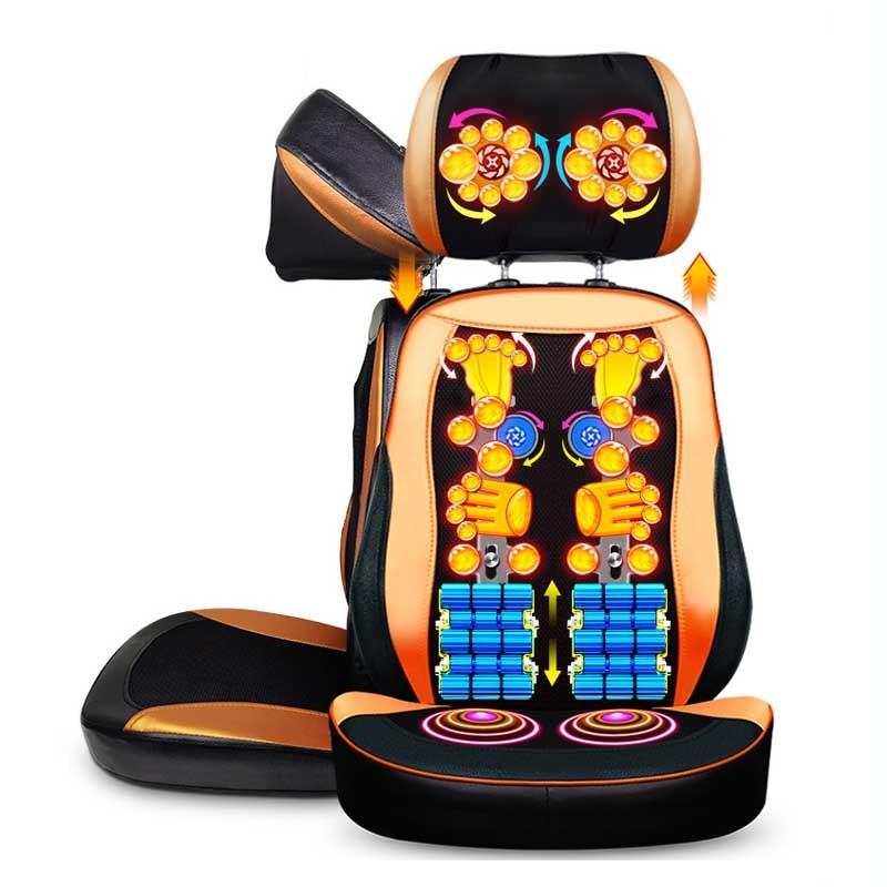 Electric Massage Chair Seat Vibrating Neck Back Massager Mat Multifunctional Full Body Vibration Massager Cushion massager  appro 67 42cm cushion mat