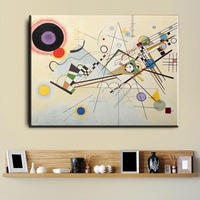 Xdr595 Wassily Kandinsky Oil Painting Classic Art Wall Poster And Sticker Print Waterproof Canvas Fabric Art