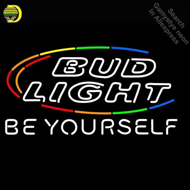Bud light be yourself neon sign basketball neon bulb sign real glass bud light be yourself neon sign basketball neon bulb sign real glass tube neon light recreation solutioingenieria Choice Image