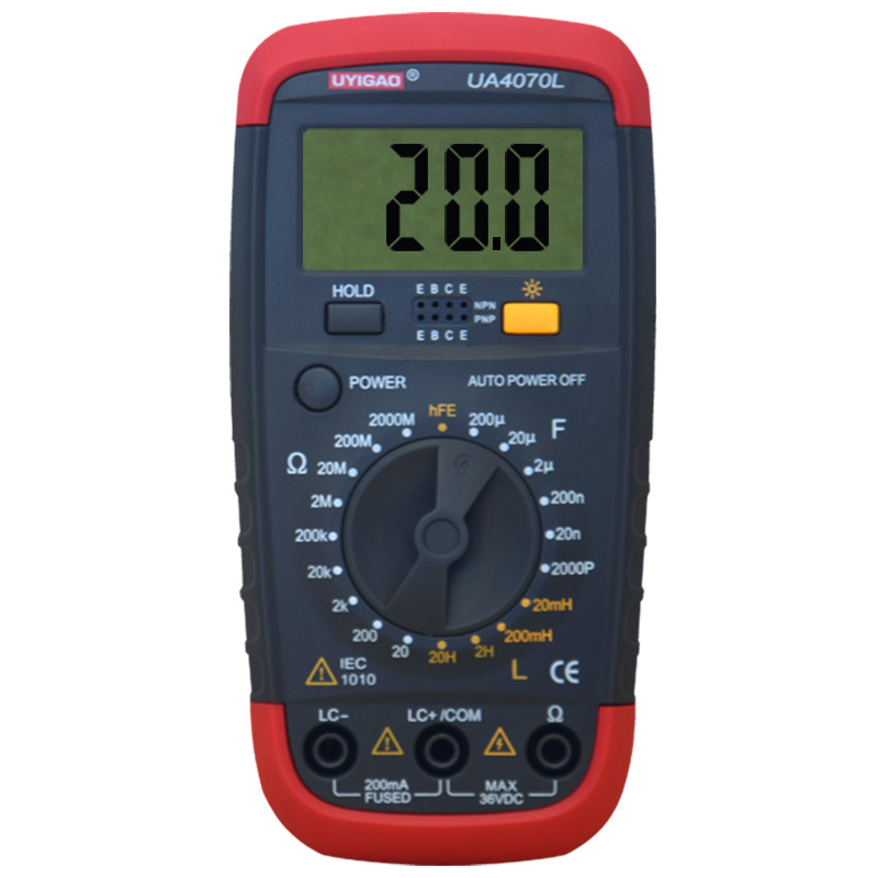 UYIGAO UA4070 Digital Multimeter DMM Resistance Capacitance Inductance LCR Multi Meter Tester with Backlight professional victor inductance capacitance lcr meter digital multimeter resistance meter vc6013