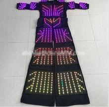 The new LED costume 1 m 32 LED colorful high Alice clothes seven – color luminous stage performance clothing