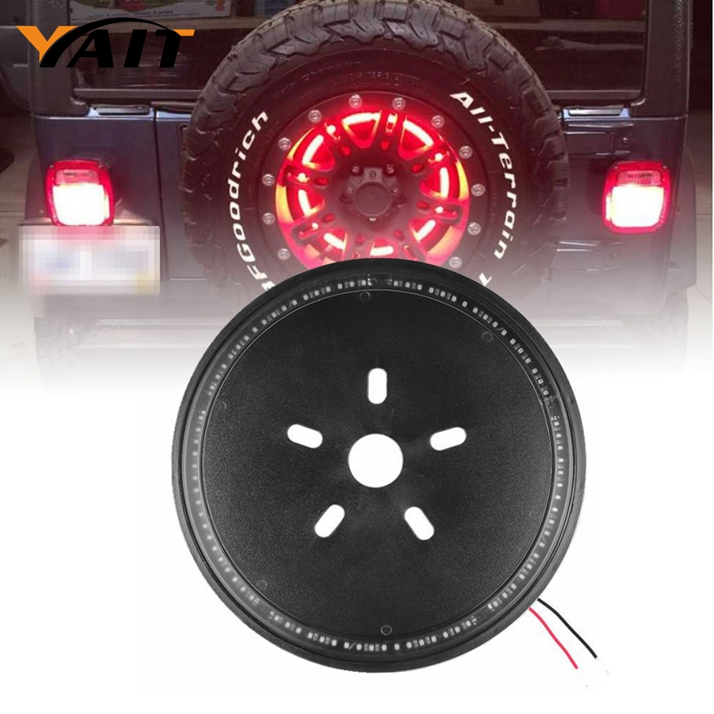 Spare Tire Cover LED Third Brake Light for Jeep Wrangler JK JKU Unlimited Rubicon Sahara X