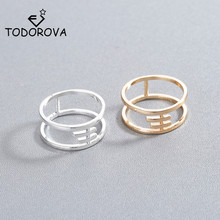 Todorova New Fashion Boho Double Lines Knuckle Midi Finger Rings for Women Gift Simple Geometric Bague Dainty Ring Femme Jewelry