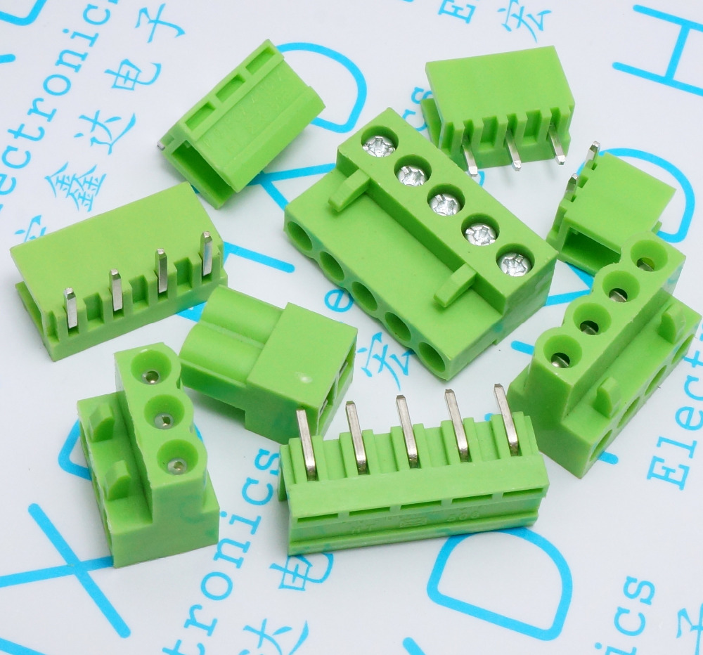 1000sets Green HT3 96MM Plug in PCB terminal block HT3 96 plug hole 2 3 4