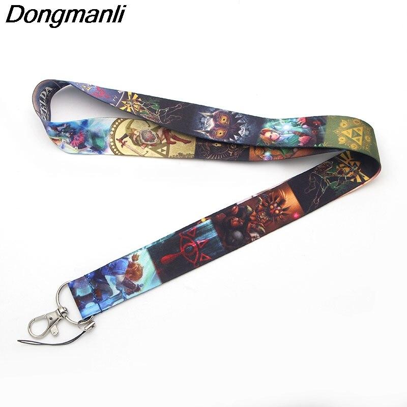 P1916 Dongmanli The Legend of Zelda keychain lanyard Badge ID Lanyards/ Mobile Phone Rope/ Key Lanyard Neck Straps Accessories