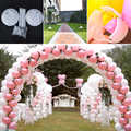 72 unids/set clips de globos Cadena de sellado soporte tubos botones Decoración de cumpleaños de boda fiestas festivas suministros