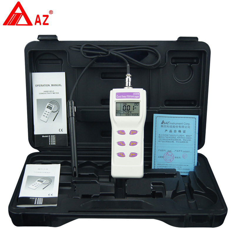 AZ8306 portable conductivity meter water test pen COND / TDS detector / salinity meter ct 3086 salinity meter portable salinity meter brackish meter precision pen style digital salinity meter 0 0
