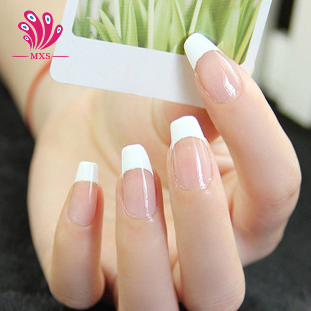 10 bags/lot Nail Art Guide Tips Hollow Stencils Sticker French ...