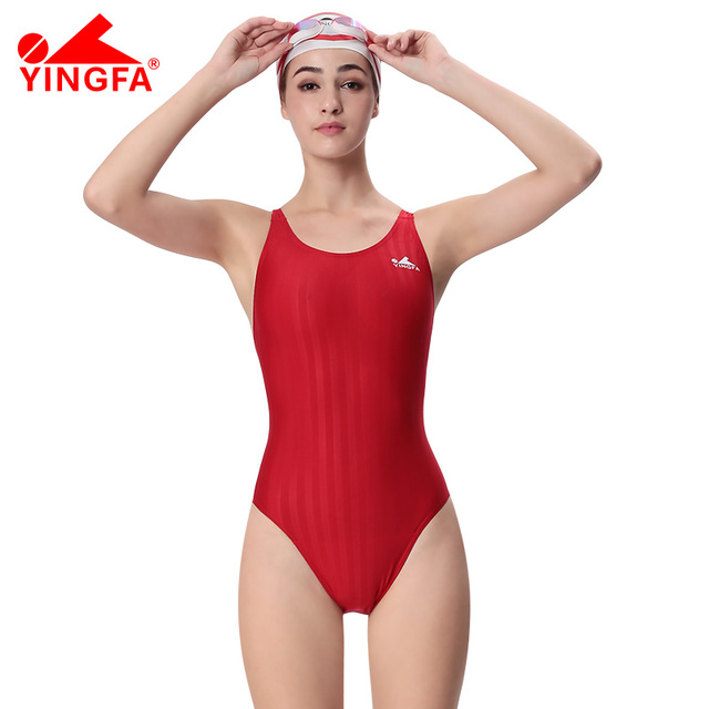 f7c50e919ef20 Yingfa professional swimsuit girl's training arena swimwear chlorine  resistant one piece bathing suit competition