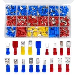 Набор вилок u-типа, 330 шт., ассорти, с полной изоляцией, набор зажимов, коннекторов, набор электрических обжимных кольцевых наконечников