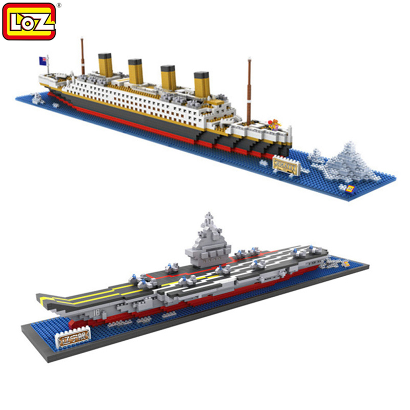 LOZ Classic Movie Titanic Loz Building Blocks Action Figure Educational Kids Model Toys Brinquedos Juguetes Menino Jouet Enfant loz mini diamond block world famous architecture financial center swfc shangha china city nanoblock model brick educational toys