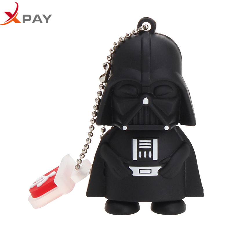Image 2 - USB 2.0 pendrive cartoon Silicone 32GB 128GB Usb flash drive 4GB 8GB 16GB 64GB for gift darth flash memory stick free shipping-in USB Flash Drives from Computer & Office