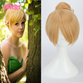 OHCOS  Short Blonde Cosplay Wig Fairy Tinker Bell Full Hair Synthetic Wigs  Princess Tinkerbell Wig