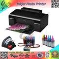 Barato Impresora para Tarjetas DE PVC Sistema CISS T50 Wiht Sublimación Prensa del Calor de Impresión Fotográfica