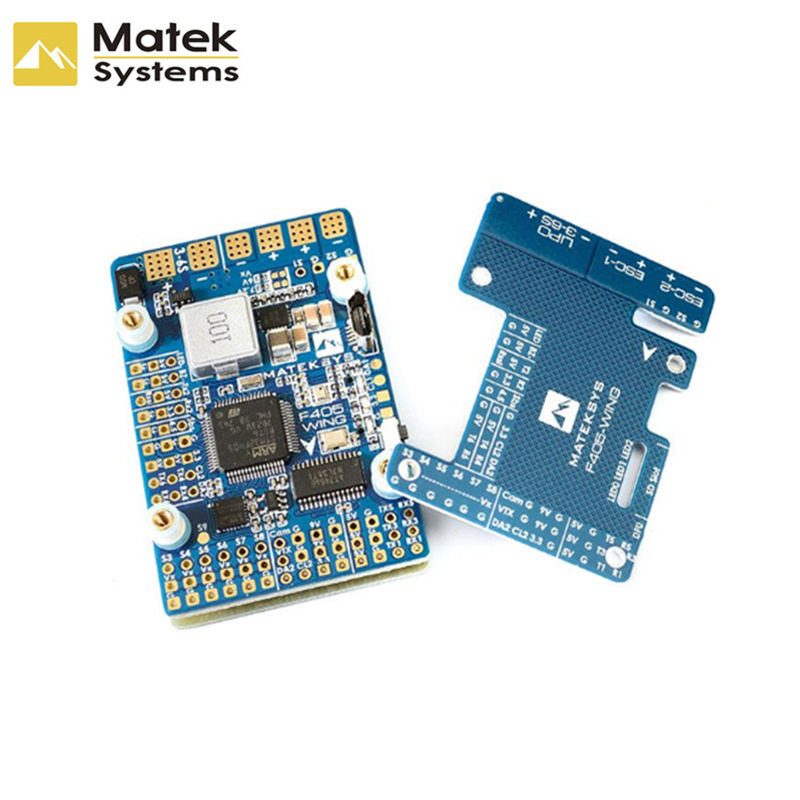 Matek Systems F405-WING (New) STM32F405 Flight Controller Built-in OSD for RC Models Multicopter Drone Spare Part Frame DIY Accs matek f405 with osd betaflight stm32f405 flight control board osd for fpv racing drone quadcopter