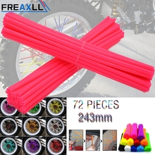 72Pcs/Pack Off-road Bike Wheel spoke skin Colorful Motocross Rims Skins Covers For KTM EXC EXCF F 125 250 450 250f 125sx
