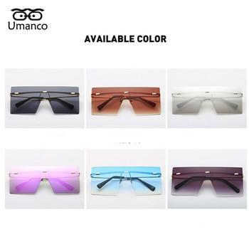 Big Square Rimless Sunglasses Women Men Vintage Fashion Metal Sun Glasses Female Oversized Shades Eyewear Male Goggles