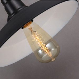 Image 3 - Vintage Lampada Da Parete Ha Condotto La Luce E27 Edison luce Loft Retrò Vernice Ferro Americano Vecchio Stile Semplicità Nero Copertura del Pot con lampada Ombra