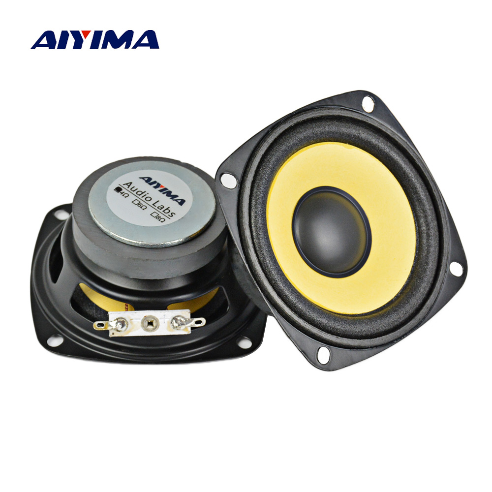 AIYIMA 2 Pcs 3 Polegadas Altifalantes Portáteis de Áudio de Gama Completa 4Ohm 10 W Speaker Magnetic Multimídia Altifalante DIY HIFI Home Theater