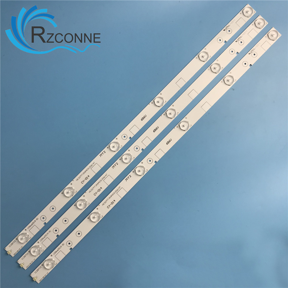 "571mm LED Backlight Strip 6 Lamp For Hisense 32""TV LED32K20JD LED32K30JD E227809 LED32EC260JD LED32EC110JD HXF-S 6V/LED"