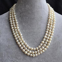 Wholesale Pearl Jewelry , Long 46 Inches 6 7mm White Color Genuine Freshwater Pearl Necklace , Bridesmaids Wedding Jewelry.