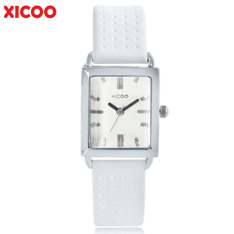 Top Brand XICOO Stylish Watches for Women Casual Small Dial Dress Quartz-watch Real Leather Strap Student Female Clock Wife Gift fashion leather watches for women analog watches elegant casual major wristwatch clock small dial mini hot sale wholesale