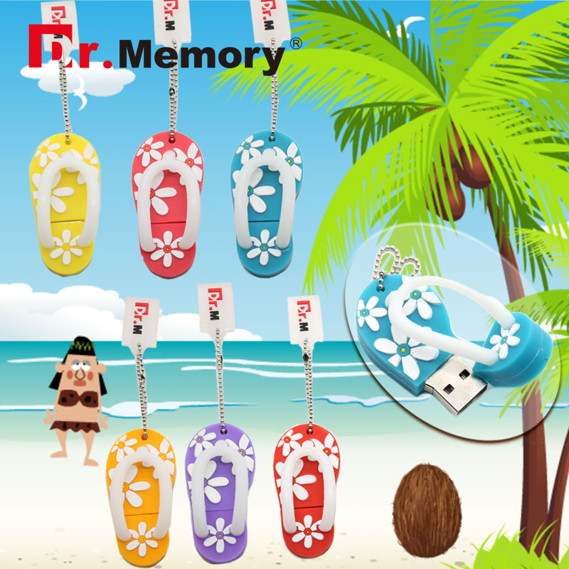 Pendrive cartoon flower slipper Usb flash driver usb Stick 2GB 4GB 8GB 16GB 32GB/64gb Me ...