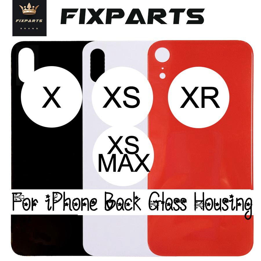 For IPhone 10 X Back Glass Battery Cover Rear Door XR Housing Case For Apple IPhone XS Back Glass Cover XS MAX Replacement LCD