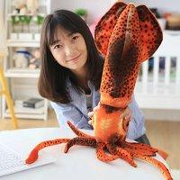 Free Shipping Cuttlefish 80cm Plush Toys Dolls Large Long Pillow Seat Cushion Backrest The Stuffed Animals