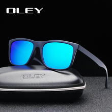 OLEY Brand Ultra light square Polarized Sunglasses only17g Fashion color film UV400 Unisex goggles Driving fishing anti-glare