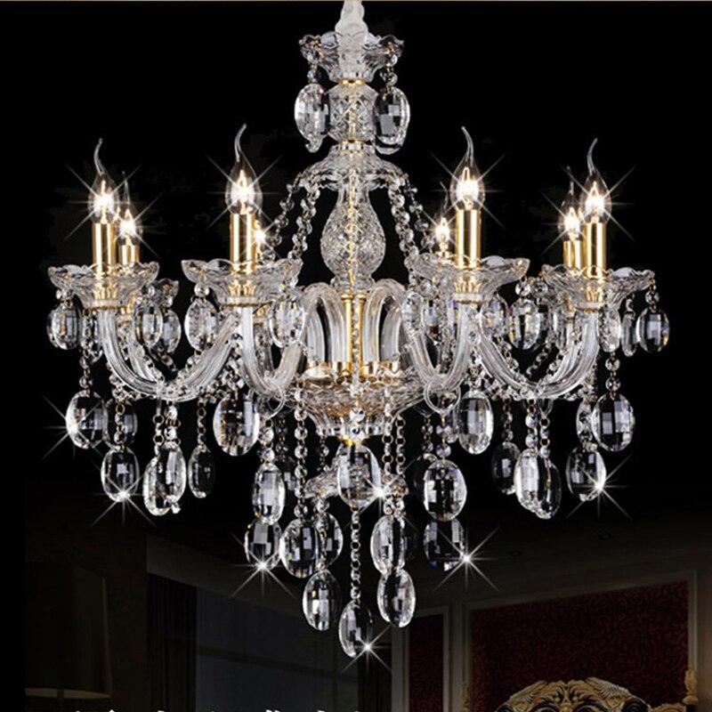 Transparent Crystal Chandelier Lighting Glass Crystal Lamp