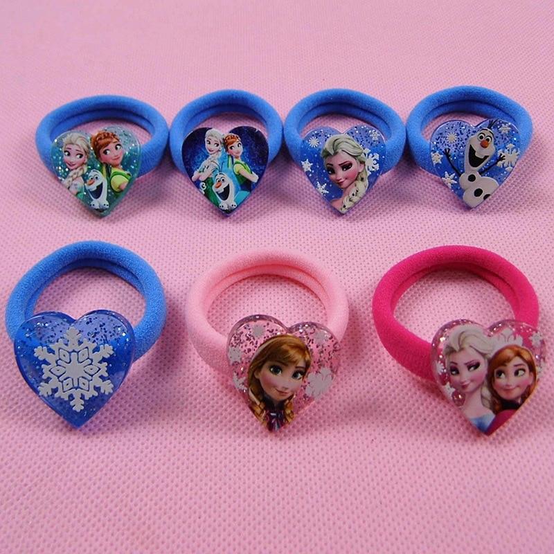 2pcs/lot Frozen Doll Accessories Children's Hair Band Rubber Band Headdress Aisha Hair Accessories Elsa Anna Doll Jewelry