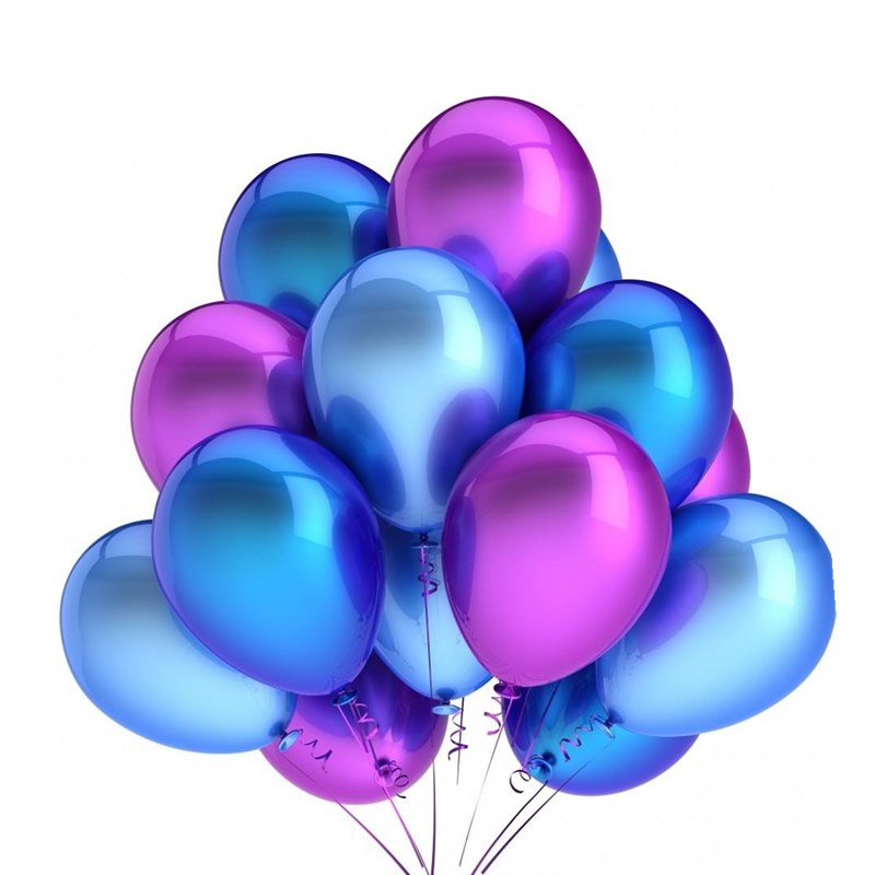Открытка синяя с днем рождения