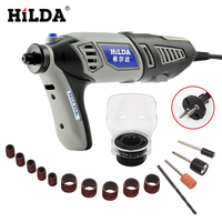 HILDA 180W Variable Speed For Dremel Rotary Tool Electric Mini Drill Accessories Grey Color Machine