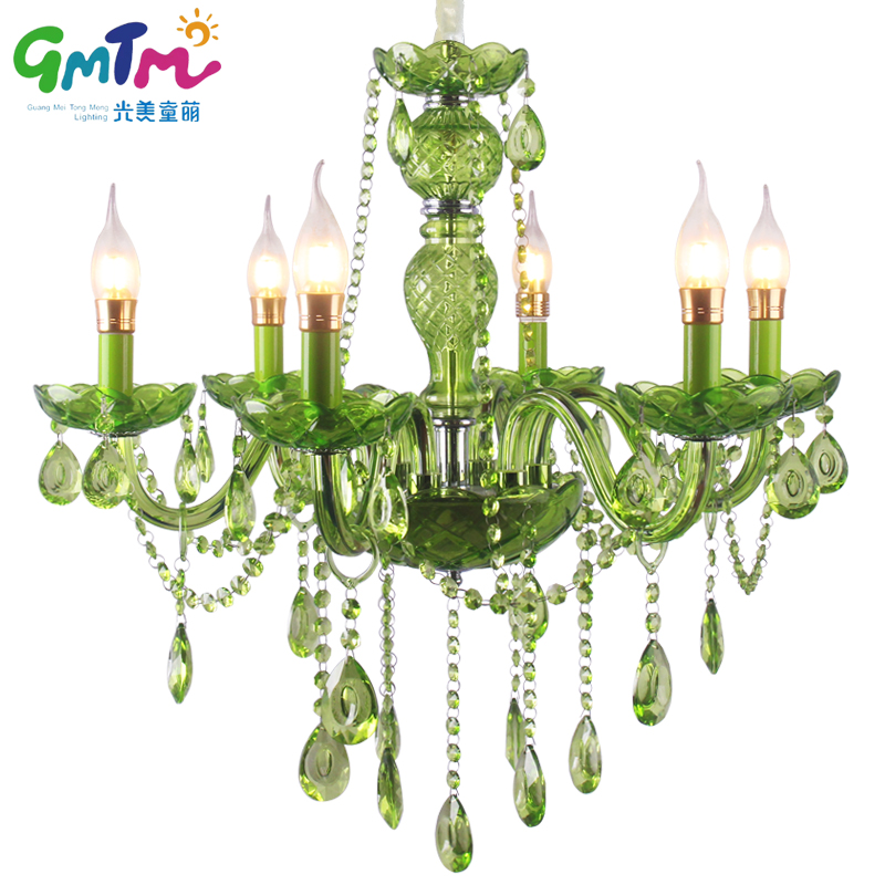 3 Color Green Crystal Pendant Chandelier Glass Chandeliers ...