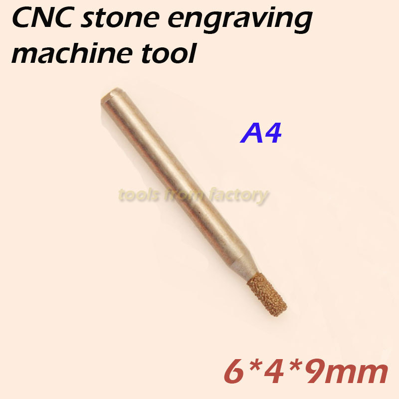 cnc router diamond stone carving tool stone engraving machine cutter stone cutting bits 6*4*9mm A4  цены