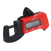 Wholesale prices 0-12.7mm 0.5 Inch Carbon Fiber Composites Digital Thickness Caliper Micrometer Guage Measure Tool  Red