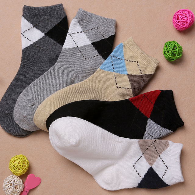 Free shipping 5 pairs/lot high quality kids spring autumn cotton children baby socks 1-12 yrs 5 colors boy cute and handsome