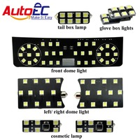 7pcs Set Car Bright Led Truck Lamp Interior Lights Dome Map Reading Light Lamp Kit For