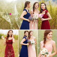 Long Simple Bridesmaid Dresses 2016 New Arrival Ever Pretty HE08834 Chiffon Cheap Wedding Party