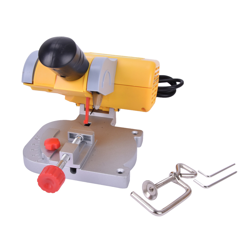 Mini Electricity cutting machine 220V 7800 rpm mini cut out mini saw miter saw non-ferrous metal metal wood plastic 90W 1kg 3mm round dots glitter powder for nail polish or gel selectable glitter in bulk dot glitter silver gold loose wholesale