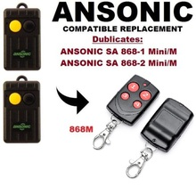 ANSONIC (dip switch version) SA 868-1 Mini/M ,SA 868-2 M 868Mhz Remote Control Replacement/Duplicator malaysia 5326 330mhz 8 dip switch remote replacement