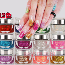 2016 New Supply 12 Colors Uv Gel Nail Polish Glitter Refinem